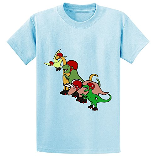 Unicorn Roller Derby Dinosaurs Child Graphic Crew Neck T-shirt L-blue (Tape Dispenser Kitten compare prices)