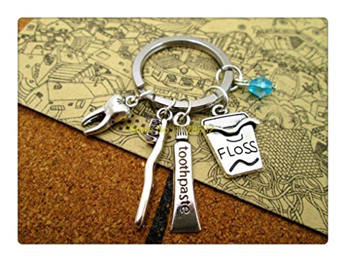 dental-hygiene-tooth-toothpaste-dental-floss-and-toothbrush-keyring-keychain-bag-charm