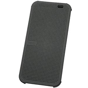 HTC Dot View (HC-M100) Etui Flip pour HTC One (M8) Gris