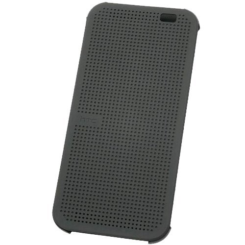 Htc Hc M100 Dot View Flip Case For Htc One (M8) (Grey)