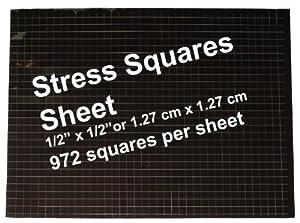 Stress Squares - 3 SHEETS Stress Squares, 972 per sheet