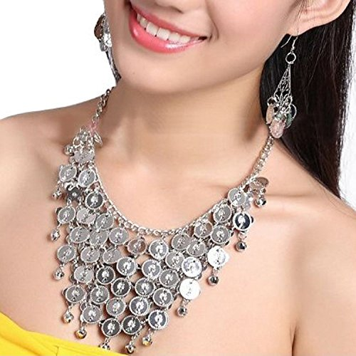 Seawhisper Belly Dance Gold/Silver Coins Necklace and earrings, Bracelets¡­