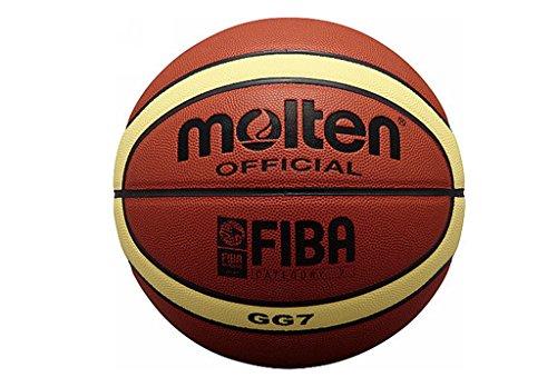 Molten BGG7 - pallone da pallacanestro, colore arancia, taglia 7