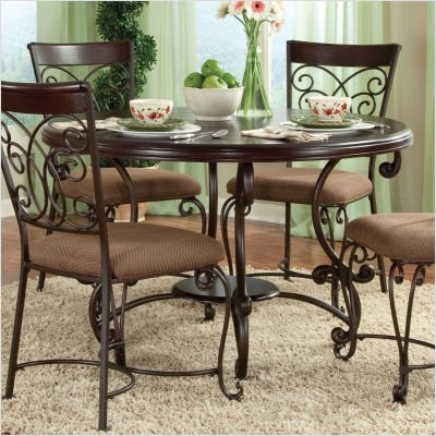 don t miss montana 5 piece round top table set in antique