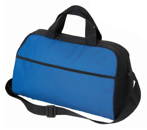 Large Two-Tone 18 Can Insulated Lunch Bag Cooler Durable Nylon, Royal Blue with Black by BAGS FOR LESSTM - 1