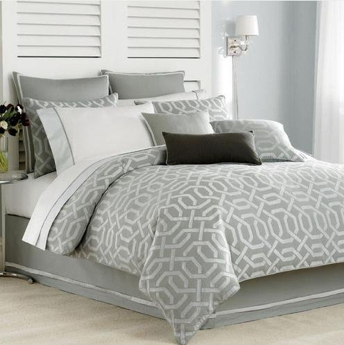 Nautica Clearwater Silver Twin Duvet Cover front-1074336