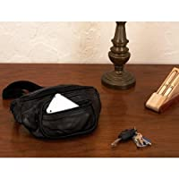 Maxam Italian Stone Design Genuine Lambskin Leather Belt Bag from Maxam
