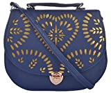 Young & Forever Golden Cutout Work Women's Sling Bag (Blue)