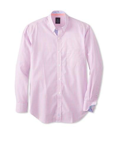 TailorByrd Men's Lightning Long Sleeve Checked Modern Sportshirt