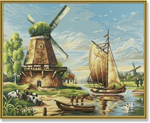 Schipper Windmills Paint by Number