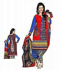 Knack Women's Cotton Dress Material
