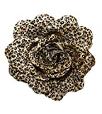 Webb Direct 2U Girls Lg Animal Print Rose Flower Hair Bow Clip Dk Brown(7012) Reviews