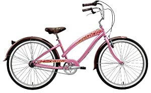 Nirve Lahaina Women's Three Speed Cruiser Bike (26-Inch Wheels, Pink Pearl)