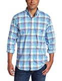 Nautica Mens Long Sleeve Mechanical Stretch Gingham Woven