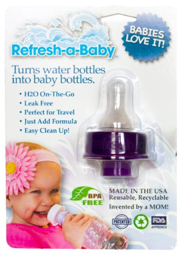Refresh-a-Baby Water Bottle Adapter, Purple Reviews