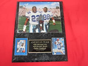 Michael Irvin Emmitt Smith Dallas Cowboys 2 Card Collector Plaque w 8x10 RARE Photo by J & C Baseball Clubhouse