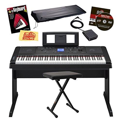 Yamaha dgx 660 digital piano bundle with x style bench for Yamaha dgx 660 bundle