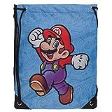 Nintendo Super Mario Blue Cinch Bag