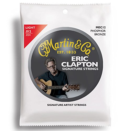 Martin MEC12 Clapton's Choice Phosphor Bronze Acoustic Guitar Strings, Light