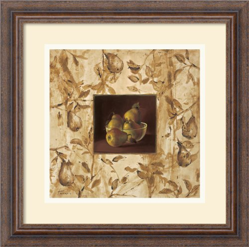 Peras En La Mesa (Pears On The Table) By Raul Tamaris Framed front-943139