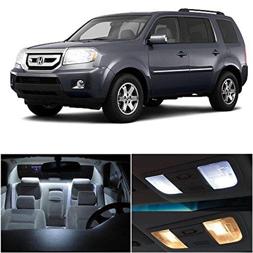Honda Pilot 2009-2014 Xenon White Premium Led Interior Lights Package Kit (13 Pieces)
