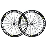 FASTEAM® Fasteam 700C 50mm 3k Superlight Carbon Clincher Cycling Racing Wheels 20/24h For Shimano