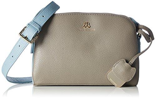 Paul & Joe SisterZipped meesenger bag - Borsa a tracolla Donna , Grigio (Grau (070)), 24x17x9 cm (B x H x T)
