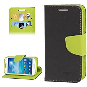 Mercury Series Cross Texture Leather Case with Credit Card Slots & Holder for Samsung Galaxy S4 i9500
