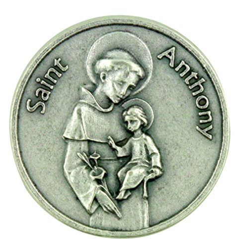 Saint of Miracles Help and Lost Articles Saint Anthony Pocket Token with Prayer - 1