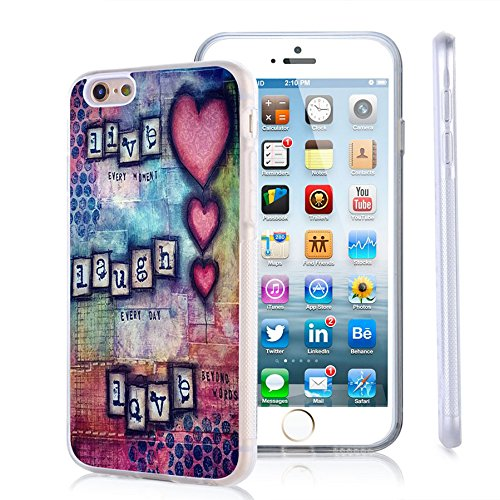 iPhone 6s Case, iPhone 6 Case Viwell TPU Soft Case Rubber Silicone Live every moment Laugh every day Love beyond words