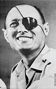 """Moshe Dayan Special Edition Personality Poster * Rare * Black and White Print on 11"""" X 17"""" Metallic Silver Poster"""