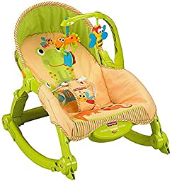 NEW! Fisher\'s Price Newborn-To-Toddler Portable Low-profile Frame Rocker (Lizards)