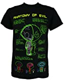 Family Guy Stewie Anatomy of Evil Men's T-Shirt, Large