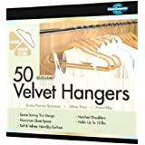 Closet Complete Ultra Thin No Slip Velvet Suit Hangers, Camel, Set of 50 ~ Closet Complete