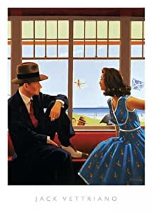 Image Conscious Edith and the Kingpin by Jack Vettriano - High Quality Print (Print Size: 40 x 50 cms / Image Size: 37 x 42 cms)