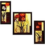 3 PIECE SET OF FRAMED WALL HANGING ART - B01GA6NGSA