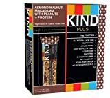 KIND PLUS, Almond Walnut Macadamia + Protein, Gluten Free Bars, 1.4 Ounce (Pack of 12)