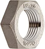Stainless Steel 316 Cast Pipe Fitting, Hex Locknut, Class 150, NPT Female