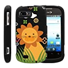 MINITURTLE, Slim Fit Graphic Design Image 2 Piece Snap On Protector Hard Phone Case Cover, Stylus Pen, and Clear Screen Protector Film for Prepaid Android Smartphone ZTE Fury N850, ZTE Director N850L, and ZTE Valet Z665C (Cute Little Lion)