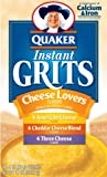 Quaker Instant Grits Cheese Lovers, Variety Pack, 12-Count Boxes (Pack of 12)