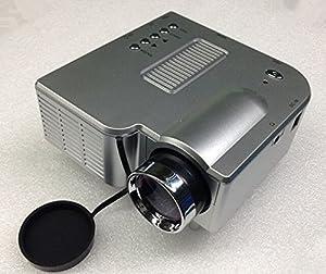 "Mini Shop® Mini Multimedia Image System Home LED Digital Projector 60"" Cinema Theater, PC Laptop VGA Input USB UC31(SD / USB / AV / VGA /HDMI Port) (Silver) from Mini shop"