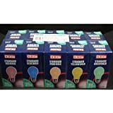 10x Lyvia 25w Coloured Standard Bulbs (2x Mixed Pack PINK/BLUE/YELLOW/GREEN/RED) ES Base -