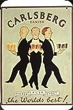 Tin Sign of Carlsberg Beer: Danish (1920) Metal Poster Plate 8