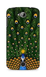 Amez designer printed 3d premium high quality back case cover for Acer Liquid Z530 (Peacock Beautiful)
