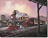 Number 82 Train Rolling Thru Town Retro Vintage Tin Sign