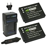 Wasabi Power Battery and Charger Kit for Nikon EN-EL12 and Nikon Coolpix AW100, AW100s, P300, P310, S70, S630, S640, S1000pj, S1100pj, S1200pj, S6000, S6100, S6150, S6200, S6300, S8000, S8100, S8200, S9100, S9200, S9300