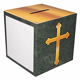 Christian Fundraising Offering Box Family Size with Cross Cardboard - 50 Boxes