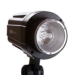 StudioPRO 160 Watt Monolight Flash Strobe Light with modeling lamp, for Portrait Location Photography Studio lighting, Compatible with Universal Style Speedring mount