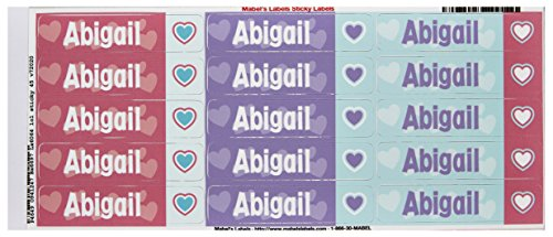 Mabel'S Labels 40845102 Peel And Stick Personalized Labels With The Name Abigail And Heart Icon, 45-Count front-549017
