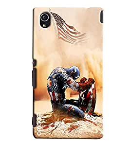 Omnam Avengure Fighting Hard Printed Designer Back Cover Case For Sony Xperia M4